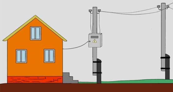 подведение электричества к частному дому