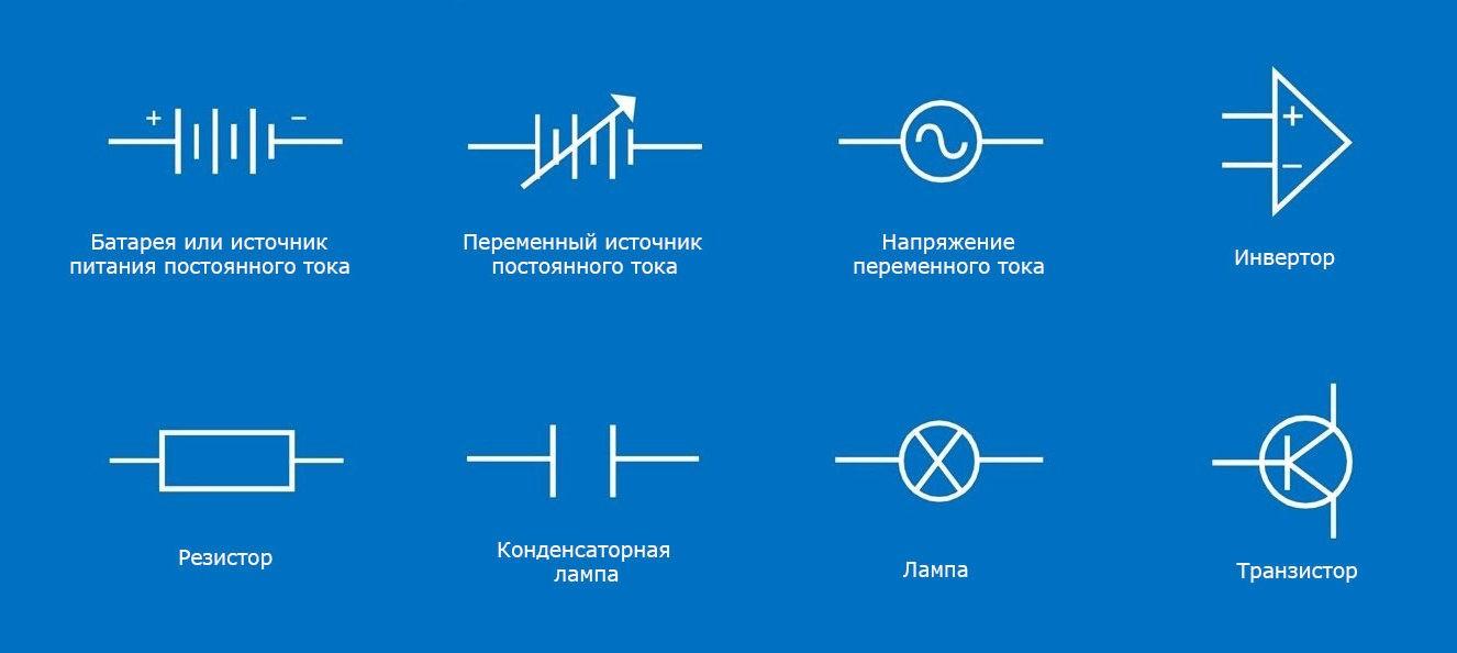 Обозначения на электросхемах